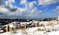 مصلحة الأبحاث العلمية:عاصفة ثلجية ستصل يوم السبت والثلوج تصل لـ500 متر
