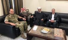 أمين عام المجلس الأعلى للدفاع عرض مع مفتي بعلبك الهرمل لأوضاع البقاع