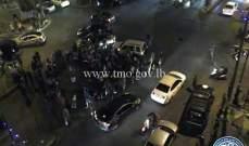 تجمع عدد من المواطنين في ساحة ساسين بالأشرفية وحركة المرور كثيفة