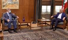 بري بحث مع عميد المجلس العام الماروني الاوضاع العامة والمستجدات السياسية