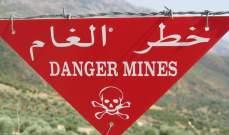 بلدية ميمس حذرت من وجود ألغام في خلة الجندي قرب عمارة وحيد ماضي