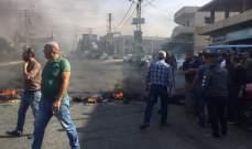 النشرة: محتجون يقطعون الطريق العام عند مفرق المرج بالبقاع