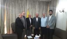 حسن حب الله التقى وفدا قياديا من حركة حماس
