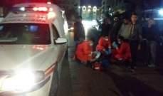 النشرة: جريح نتيجة انزلاق دراجة نارية في حي البراد بصيدا