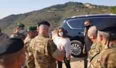 عكر جالت على الحدود اللبنانية الفلسطينية في حاصبيا