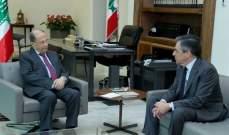 الرئيس عون استقبل فيون واطلع منه على مبادرته للاهتمام بمسيحيي الشرق