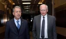 وزير الدفاع التركي بحث مع مبعوث أميركا إلى دمشق بقضايا الأمن الإقليمي وعلى رأسها سوريا