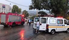 الدفاع المدني: جريح اثر حادث صدم في بشارة الخوري