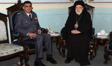 اللواء عثمان زار المطران عودة واستقبل وفد من اتحاد بلديات راشيا