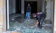 محتجون يحطمون مبنى TOUCH  في بيروت