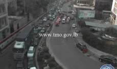 حركة المرور كثيفة من برج المر باتجاه زقاق البلاط وصولا لسليم سلام
