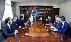 الرئيس عون اطلع من شركة سيمنز على قرارها تحسين قدرة معملي الزهراني ودير عمار من دون اي كلفة