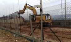 الجيش الاسرائيلي استقدم ورشة الى منطقة البساتين وباشر بأعمال الحفر