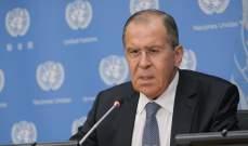 لافروف: بوتين أكد استعدادنا للتفاوض مع اميركا بشأن اتفاقية الصواريخ