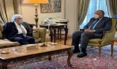 شكري: نرفض الهجمات الحوثية المستمرة على السعودية ونساند مبادرتها لحل الأزمة باليمن