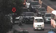 التحكم المروري: حادث تصادم على اوتوستراد جل الديب