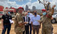 فوشيه زار موقع الانفجار بمرفأ بيروت لمواكبة عمل الشرطة الجنائية الفرنسية بحضور عويدات