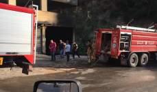 الدفاع المدني: حريق داخل سيارة واخلاء سكان مبنى سكني بتلة الكوز في زوق مصبح