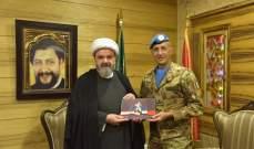 المفتي عبدالله يستقبل الجنرال بيشوتا في دار الإفتاء الجعفري في صور