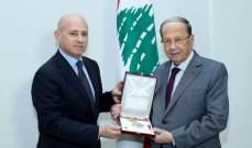 الرئيس عون استقبل سفير ايطاليا وتلقى دعوة من قنصل ألبانيا  للمشاركة في مؤتمر بروكسيل