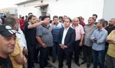 اهالي بلدة مجدل عنجر اقفلوا محطة توزيع الكهرباء احتجاجا على التقنين