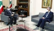 علي التقى الرئيس عون: تسهيلات سورية للمحاصيل اللبنانية لتطوير الاقتصاد