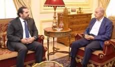 الجمهورية: الحريري أكد لبري خلال اتصال أمس أن لا استقالة ولا تعديل للحكومة