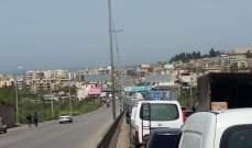 قطع طريق المحمرة احتجاجا على الاوضاع المعيشية