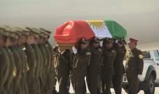وصول الطائرة التي تقل جثمان جلال طالباني إلى مطار السليمانية