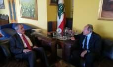 لحود بحث مع السفير السوري أهمية التصدي لكل محاولات زعزعة أمن المنطقة