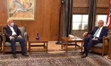 بري التقى جمعية صرخة المودعين وعرض للأوضاع مع العريضي وأبرق مهنئا نظيره الجورجي