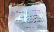 اقفال محل يستثمره سوري في دوحة عرمون
