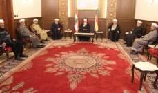 نعيم حسن استقبل وفدا من تجمع العلماء المسلمين وعائلة المقدم فياض