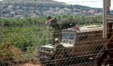 النشرة: قوة اسرائيلية تفقدت الطريق العسكري والسياج الحدودي مقابل بلدة العديسة