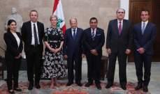 الرئيس عون التقى الاميرة البريطانية صوفي ورئيس مقاطعة الالب- الكوت دازور