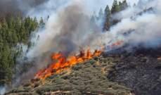 ا ف ب: حريق جديد في كبرى جزر الكناري الإسبانية وإجلاء سياح