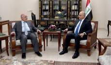 رئيس العراق بدأ مشاوراته لاختيار رئيس وزراء جديد: لتشكيل حكومة قادرة على التصدي لمهامها