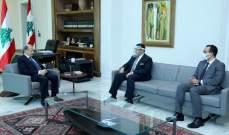 الرئيس عون عرض مع سفير مصر العلاقات اللبنانية - المصرية