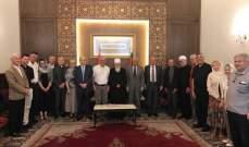 الشيخ حسن التقى وفدا من مجالس رعايا الكنائس الكاثوليكية في فرنسا