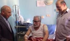 فيصل يزور جرحى أحداث مخيم عين الحلوة