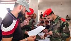 المئات من مسلحي مدينة طفس في ريف درعا سلموا أسلحتهم للجيش السوري