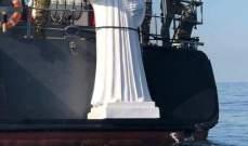 انزال تمثال للقديس شربل إلى قعر البحر في الذوق شفيعا لأعضاء نادي الغطس C club