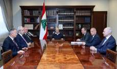 الرئيس عون عرض مع النواب الضباط المتقاعدين موضوع الموازنة وحقوق العسكريين