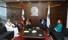 عكر عرضت مع سفيرة فرنسا للاوضاع والاصلاحات المنوي تنفيذها