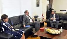 فياض بحث مع دوكان بكيفية مساعدة لبنان في إطار الدعم الفرنسي على الصعد كافة
