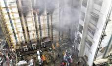 إنقاذ نحو 60 شخصا بعد حريق شب بمبنى في مدينة مومباي الهندية