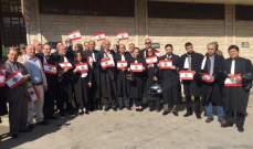 اعتصام للمحامين امام قصر عدل بعلبك إحتجاجا على التعيينات القضائية
