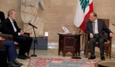 مصادر وزارية للشرق الأوسط: الرئيس عون لم يرد على العرض الإيراني لتحسين الأوضاع