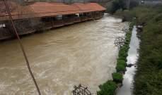 النشرة: ارتفاع منسوب مياه نهر الحاصباني بسبب ذوبان الثلوج