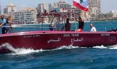الدفاع المدني: إنقاذ شخصين غرقا أثناء ممارستهما هواية السباحة مقابل شاطئ صور